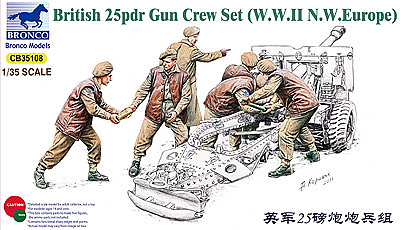 Bronco Models 1/35 British 25pdr Gun Crew Set(WWII N.W.Europe)