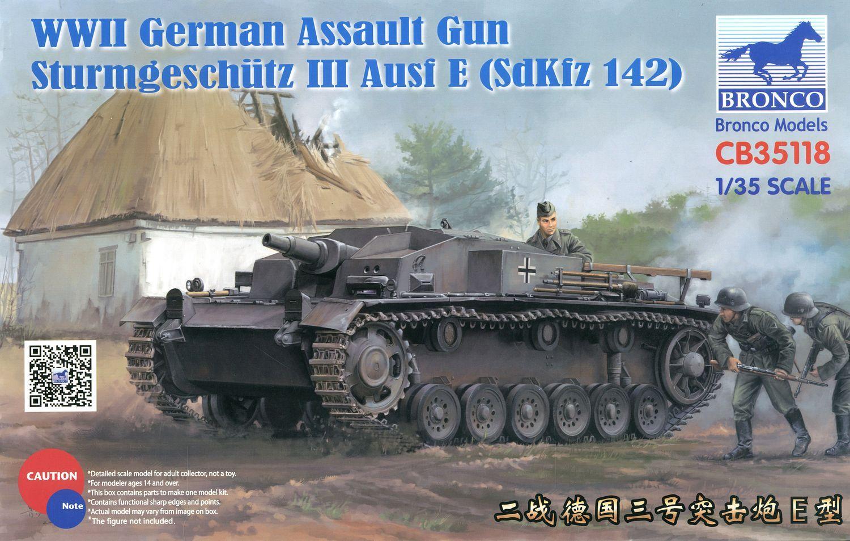 Bronco Models 1/35 WWII German Assault Gun Sturmgeschutz III Ausf E (SdKfz 142)