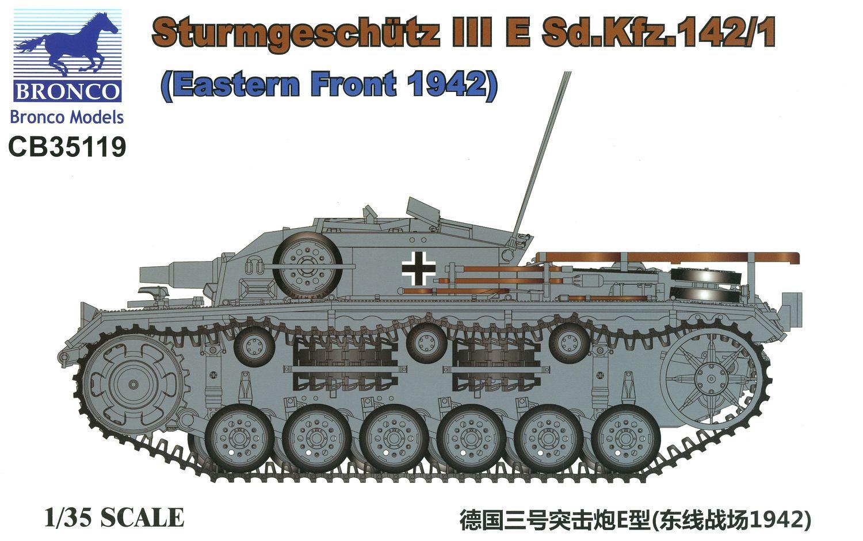 Bronco Models 1/35 Sturmgeschutz III E Sd.Kfz. 142/1 (Eastern Front 1942)