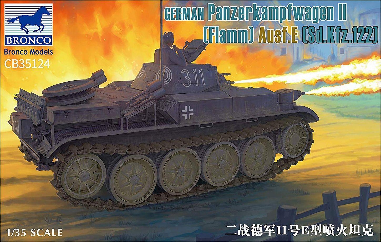 Bronco Models 1/35 German Panzerkampfwagen II Flamm Ausf.E (Sd.Kfz.122)