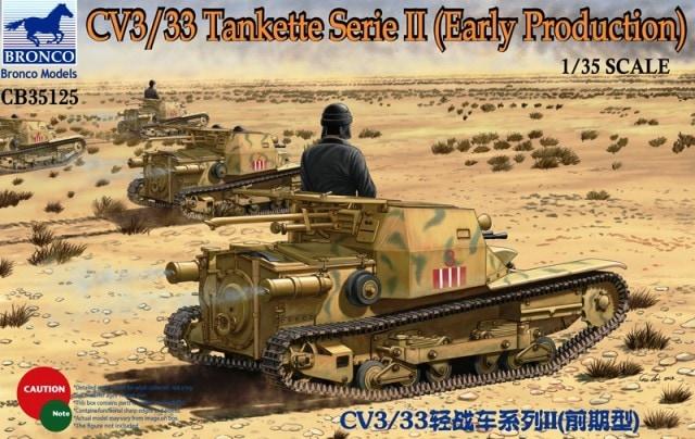 Bronco Models 1/35 CV3/33 Tankette Series II Early Prod