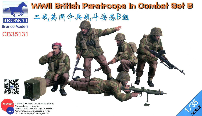Bronco Models 1/35 WWII British Paratroops In Combat Set B