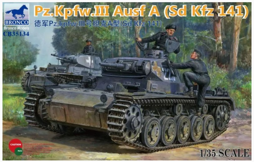 Bronco Models 1/35 Panzerkampfwagen III Ausf. A (Sd Kfz 141) German Tank