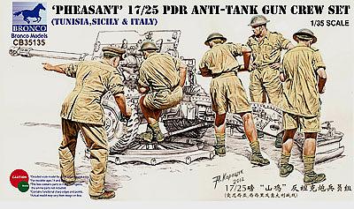 Bronco Models 1/35 Pheasant' 17/25 pdr Anti-tank Gun Crew Set(Tunisia,Sicily&Italy)