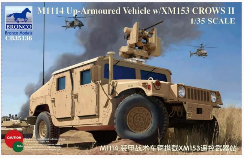 Bronco Models 1/35 M1114 Up-Armoured Vehicle w/ XM153 Crows II