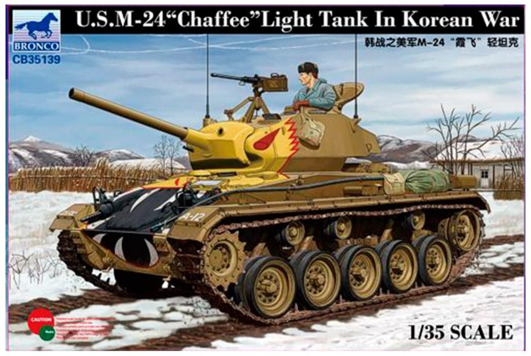 Bronco Models 1/35 US M-24 Light Tank Chaffee In Korean War