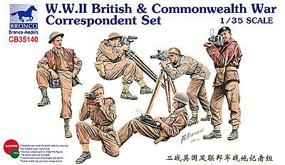 Bronco Models 1/35 WWII British & Commonwealth War Correspondent Set