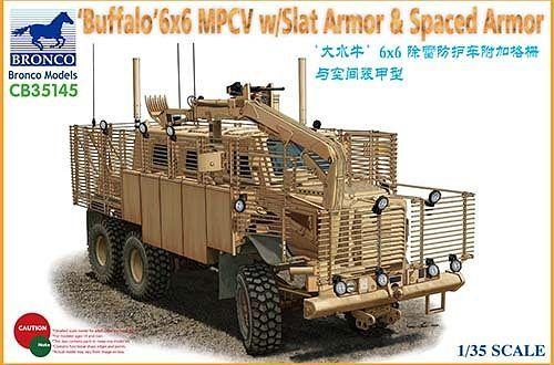Bronco Models 1/35 'BUFFALO' 6x6 MPCV w/Slat Armor & Spaced Armor Version