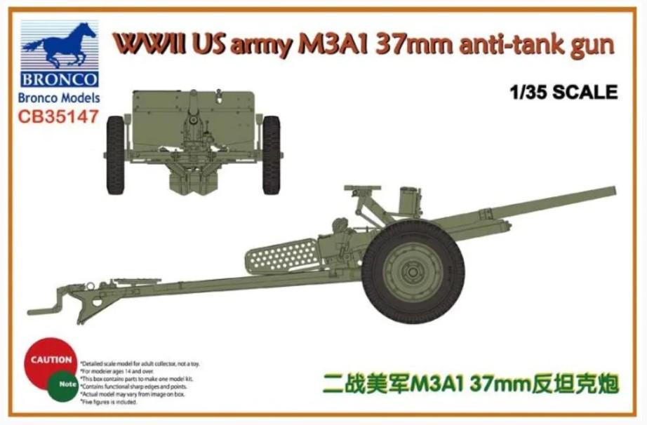 Bronco Models 1/35 WWII US army M3A1 37mm Anti-Tank Gun