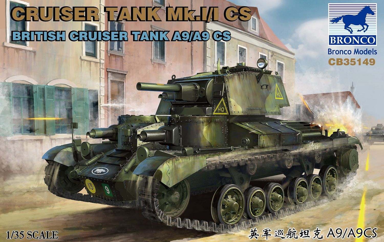 Bronco Models 1/35 Cruiser Tank Mk.I/I CS British Cruiser Tank A9/A9CS