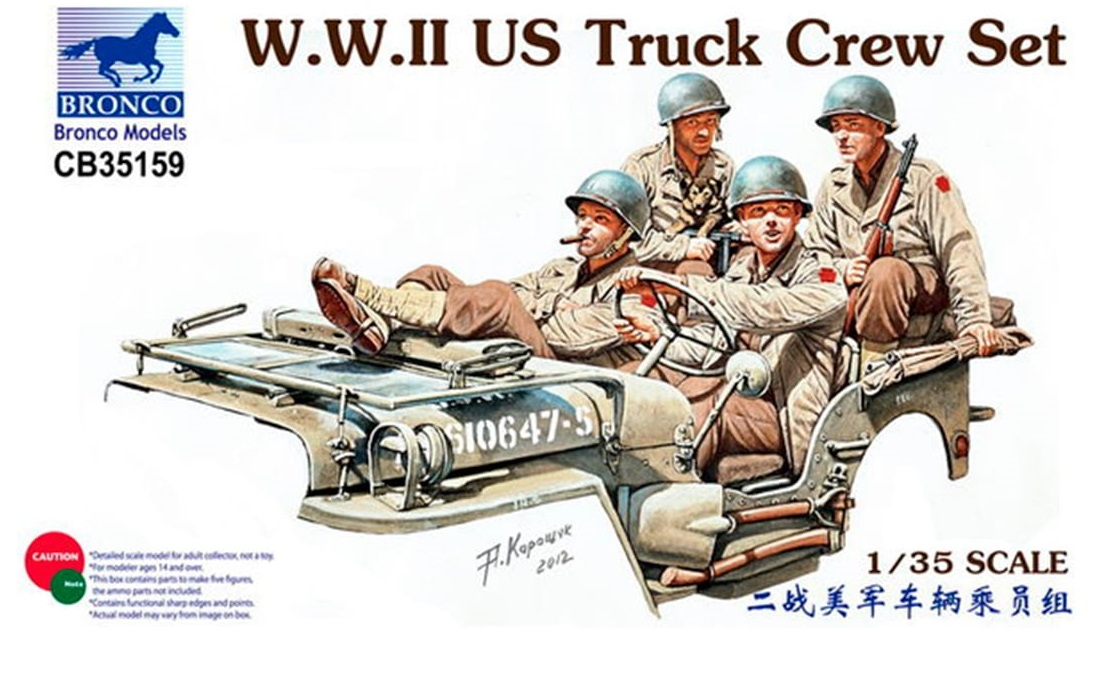 Bronco Models 1/35 WWII US Truck Crew Set