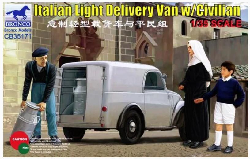 Bronco Models 1/35 Italian Light Delivery Van w/ Civilian