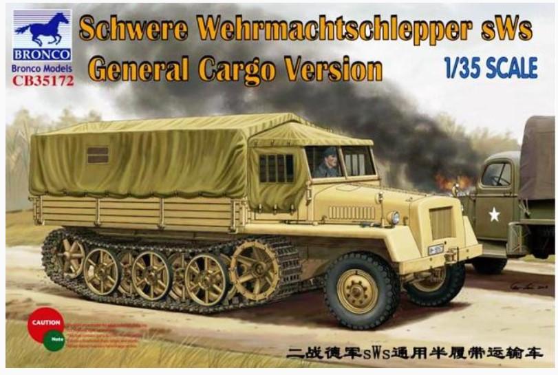 Bronco Models 1/35 German sWs General Cargo Version Military Truck
