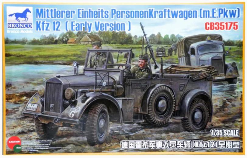 Bronco Models 1/35 Mittlerer Einheits Personenkraftwagen (m.E.Pkw) Kfz 12 (Early Vers) Military Car