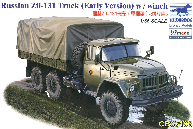 Bronco Models 1/35 Russian Zil-131 Truck (Early Version) w / winch
