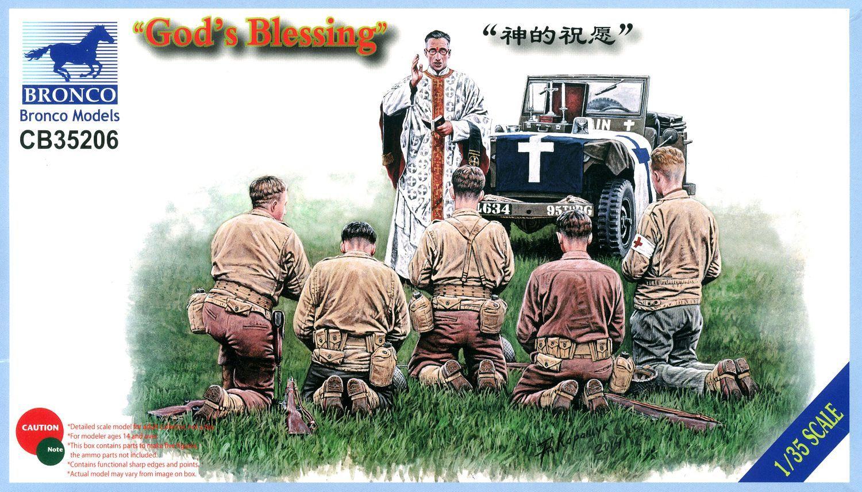 Bronco Models 1/35 Gods Blessing WWII US US Infantry & Chaplain Figure Set