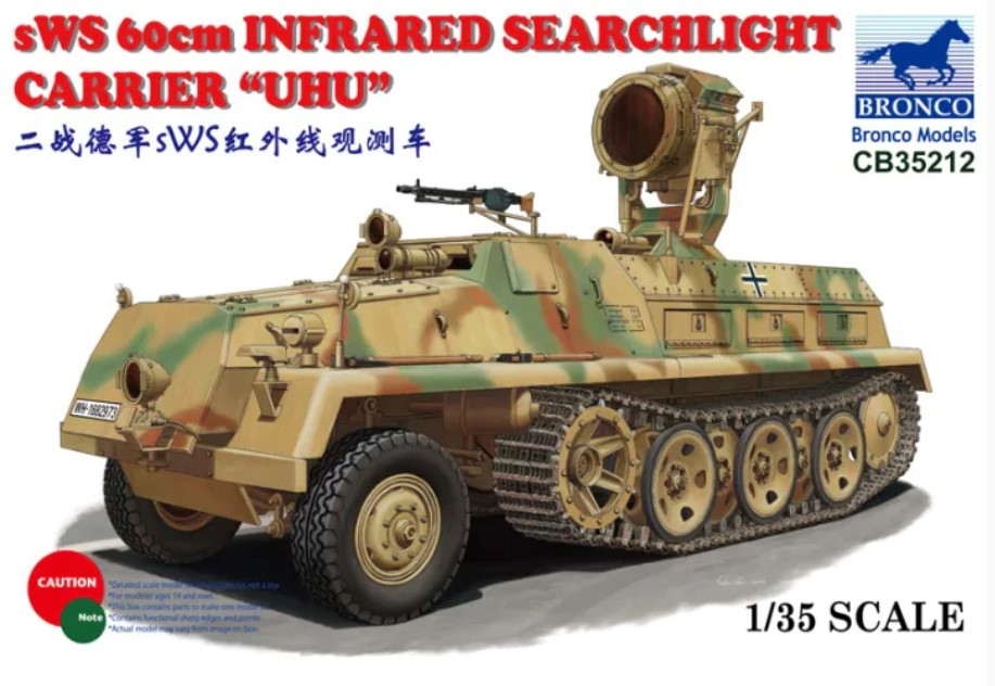 Bronco Models 1/35 sWS 60cm Infrared Searchlight Carrier UHU Military Truck