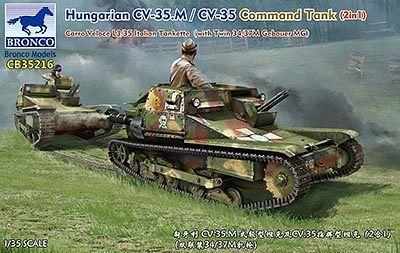 Bronco Models 1/35 Hungarian 35M Ansaldo Carro Veloce L3/35 Italian Tankette (2 in 1) w/ Twin 34/37M Gebauer MG