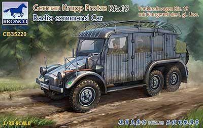 Bronco Models 1/35 German Krupp Protze Kfz.19 Radio Command Car