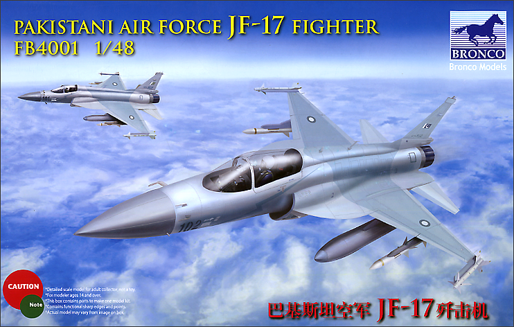 Bronco Models 1/48 Pakistan Air Force JF-17 Fighter Jet Model Kit