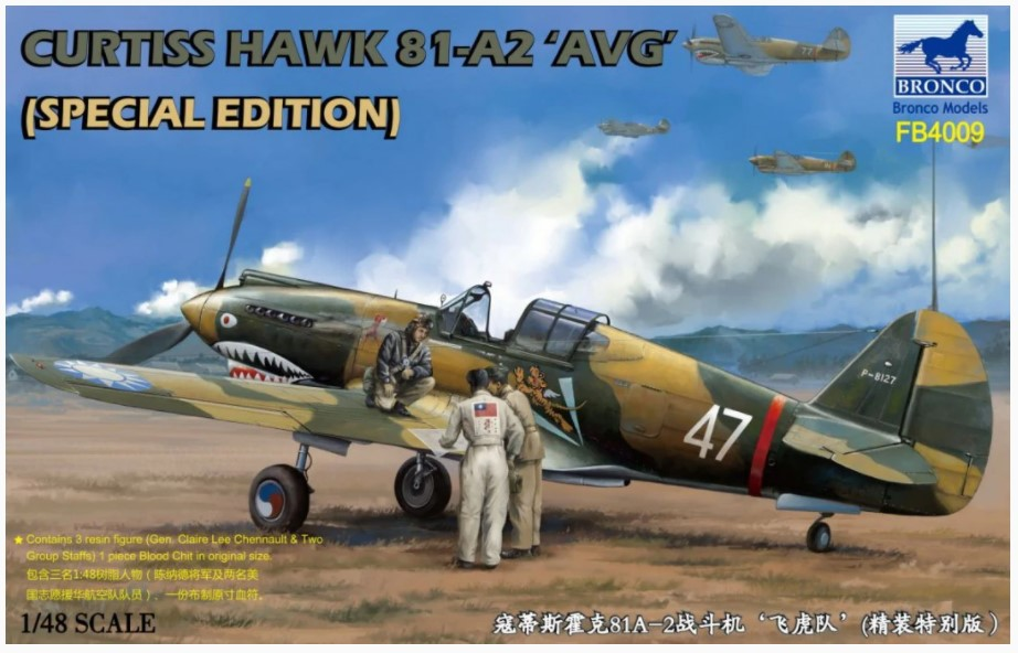 Bronco Models 1/48 Curtiss Hawk 81-A2 AVG Aircraft, Special Edition