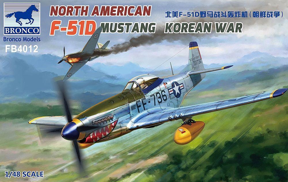 Bronco Models 1/48 North American F-51D Mustang Korean War