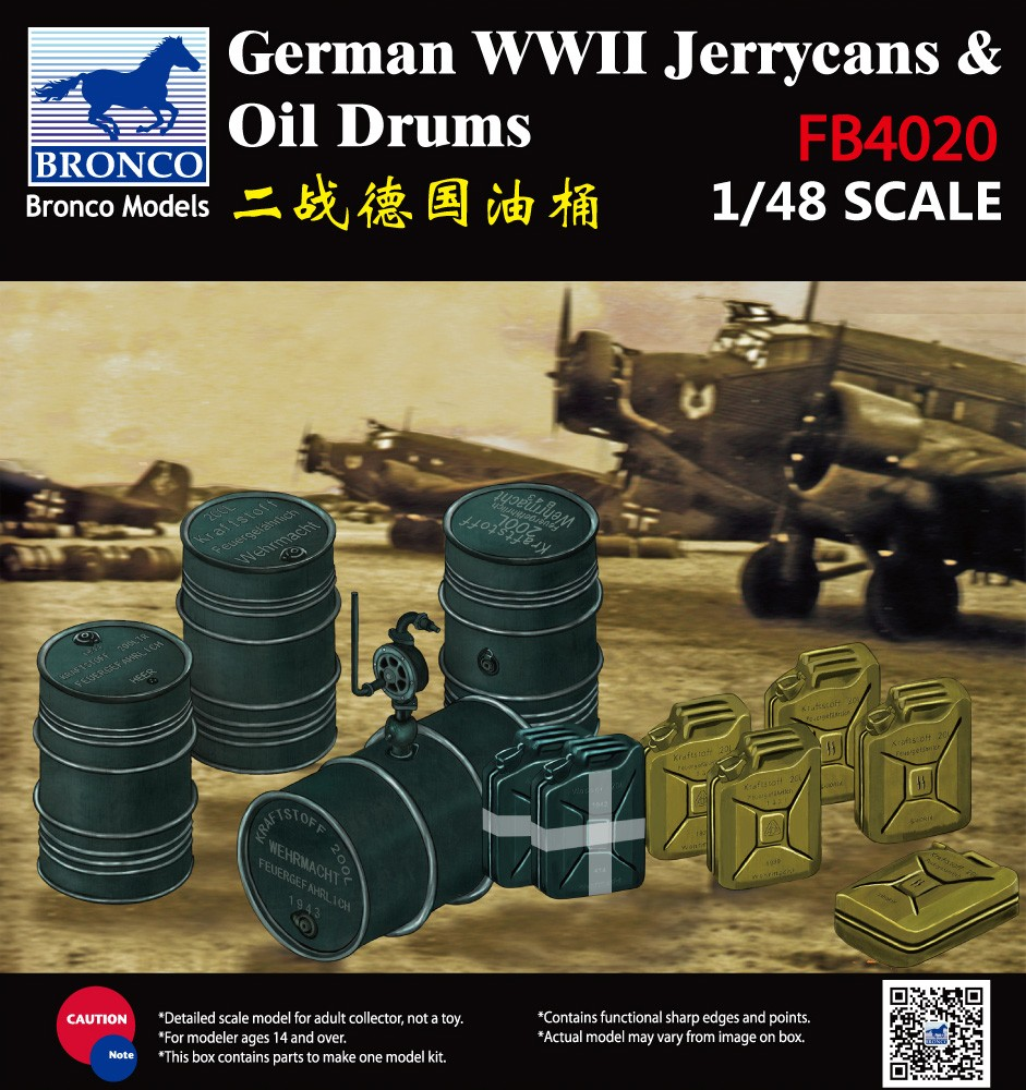 Bronco Models 1/48WWII German Jerry Can & Fuel Drum