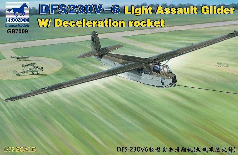 Bronco Models 1/72 DFS230V-6 Light Assault Glider w/ Deceleration Rocket Aircarft