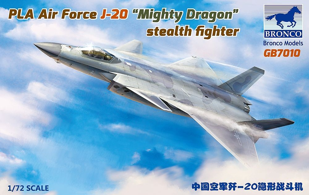 """Bronco Models 1/72 PLA Air Force J-20 """"Mighty Dragon"""" stealth fighter"""