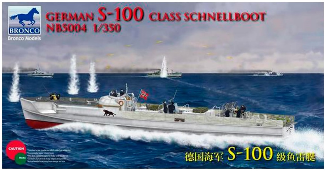Bronco Models 1/350 German S-100 Class Schnellboot Attack Ship
