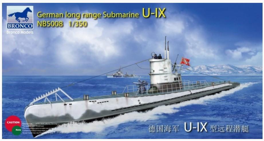 Bronco Models 1/350 German Long Range Submarine Type U-IX A
