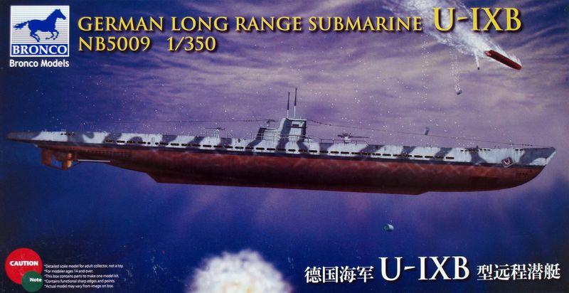 Bronco Models 1/350 German Long Range Submarine Type U-IX B