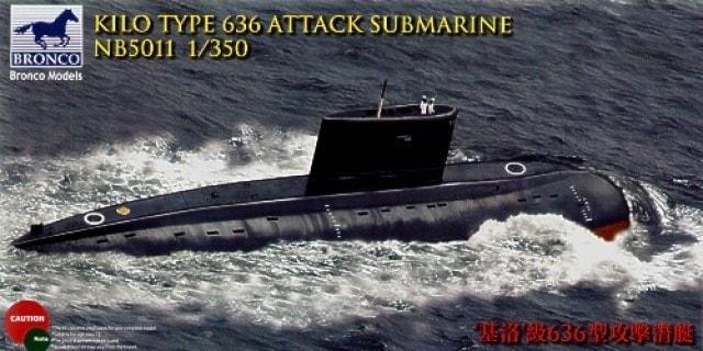 Bronco Models 1/350 Kilo Type 636 Attack Submarine