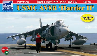 Bronco Models 1/350 USMC AV8B Harrier II Aircraft Model Kit