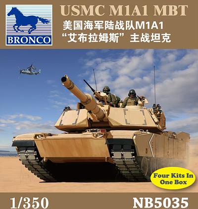 Bronco Models 1/350 USMC M1A1 MBT Military Tank Model Kit