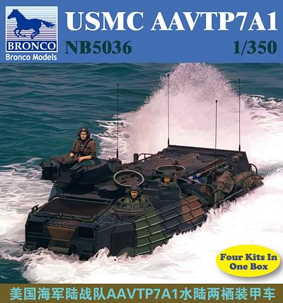 Bronco Models 1/350 USMC AAVTP7A1 Military Tank Model Kit