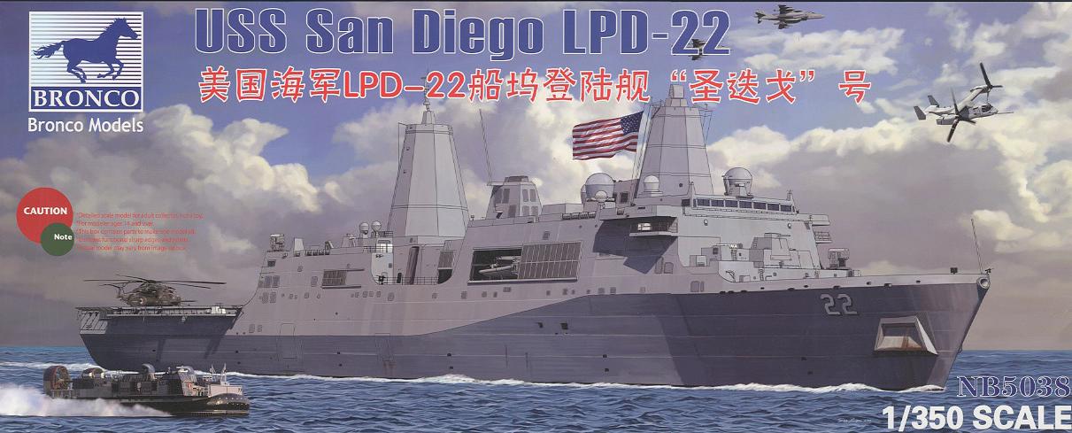 Bronco Models 1/350 USS LPD-22 San Diego Landing Craft