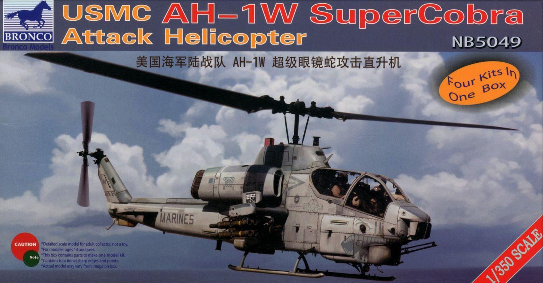 Bronco Models 1/350 USMC AH-1W Super Cobra Attack Helicopter