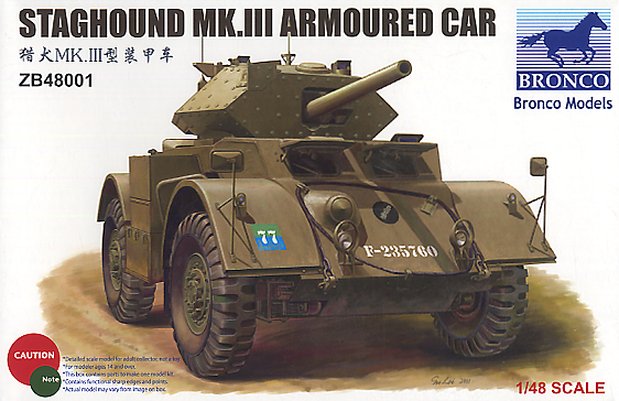 Bronco Models 1/48 Staghound MK.III Armoured Car