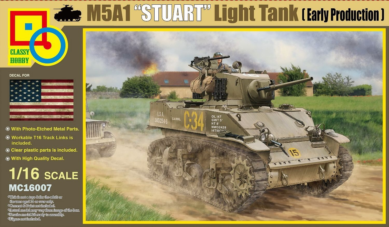 Classy Hobby 1/16 M5A1 Stuart (Early Production)