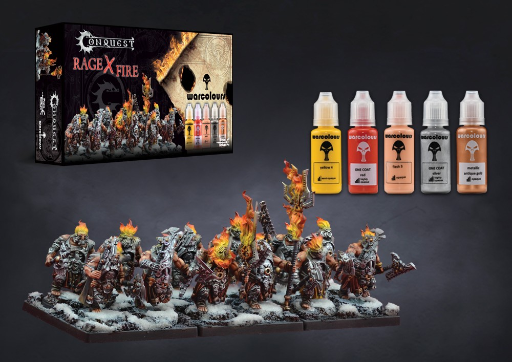 Conquest, Rage x Fire Paint Set, Collab with Warcolours (PBW8968)