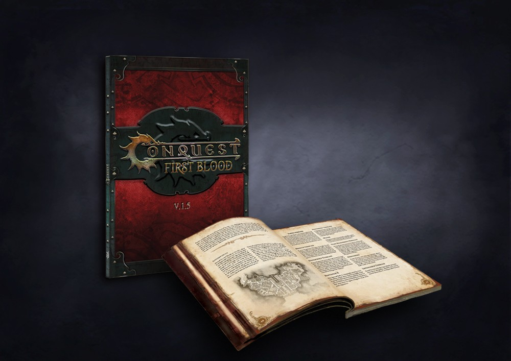 Conquest, First Blood Softcover Rulebook Ver 1.5 - English (PBW8018)