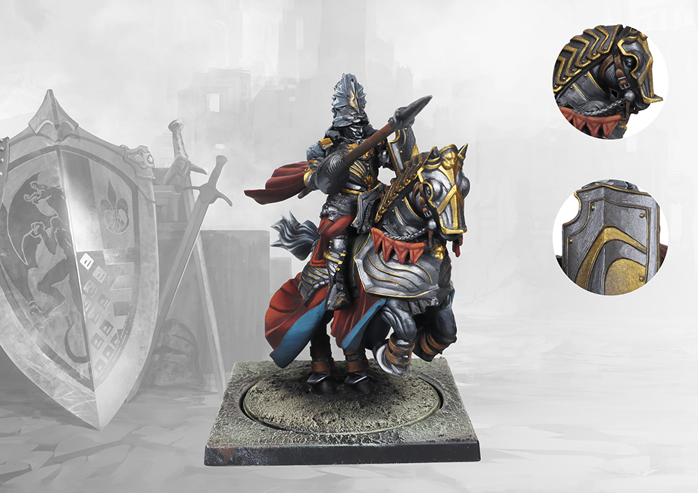 Conquest, Hundred Kingdoms - Mounted Noble Lord (PBW7231)