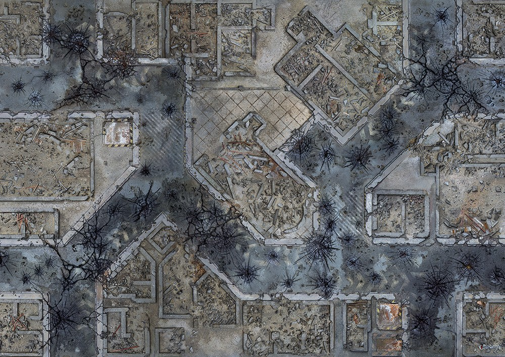 """Conquest, Warzone City Mat, 48"""" x 72"""" (KWG03-64)"""