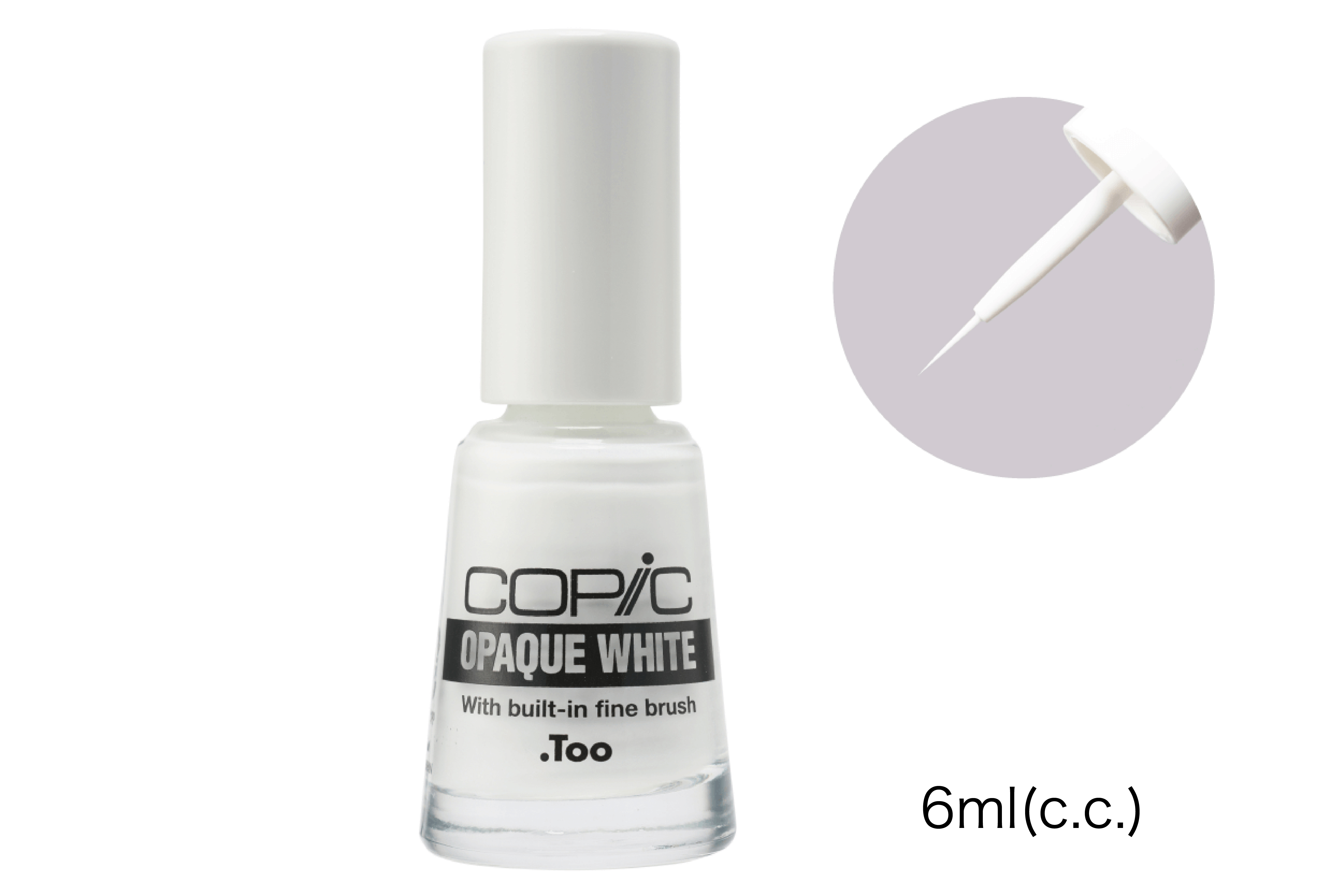 Copic Opaque White With Built in Fine Brush, 6mL