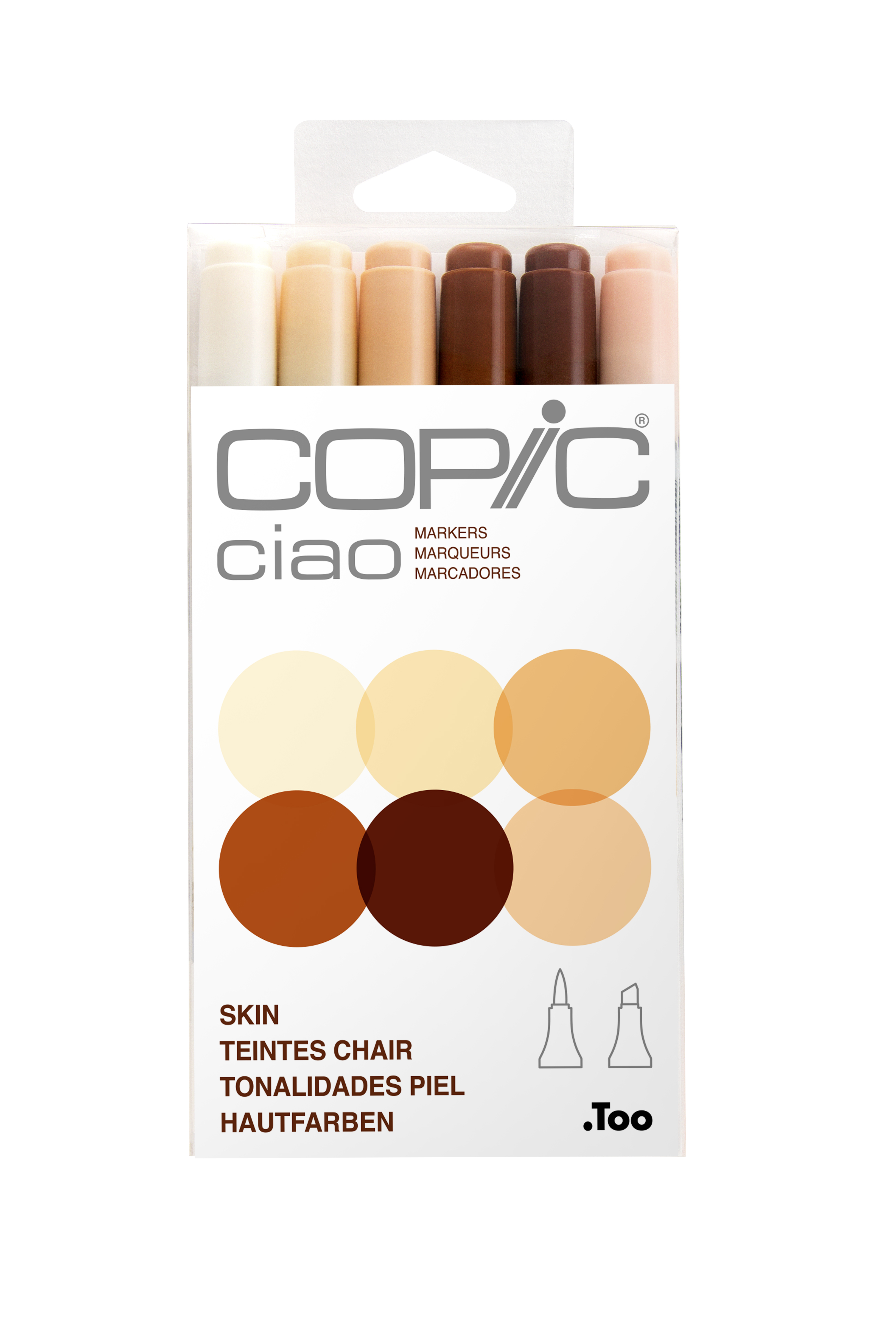 Copic Ciao Marker Skin 6Pc Set