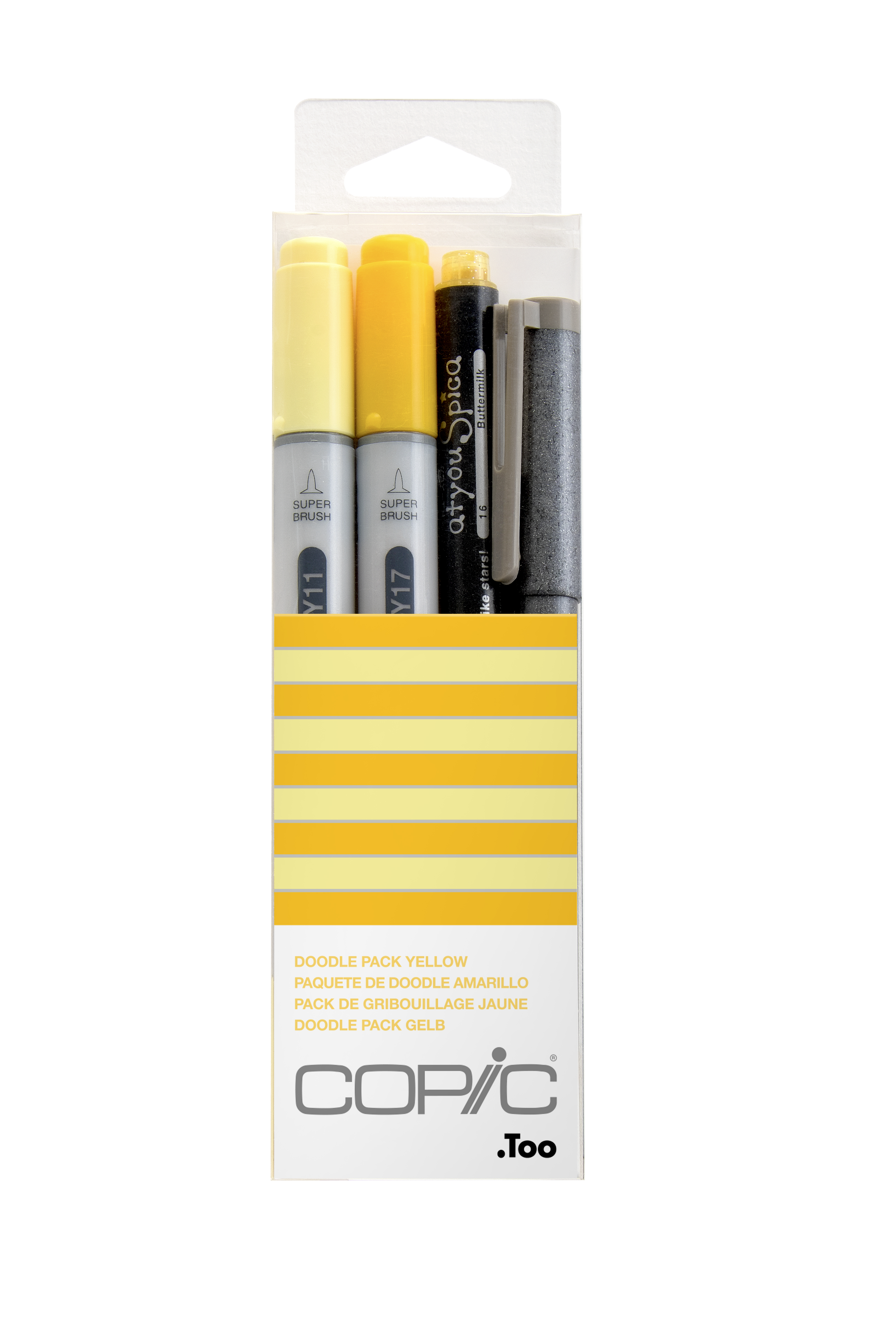 Copic Ciao Marker 4pc Doodle Kit, Yellow