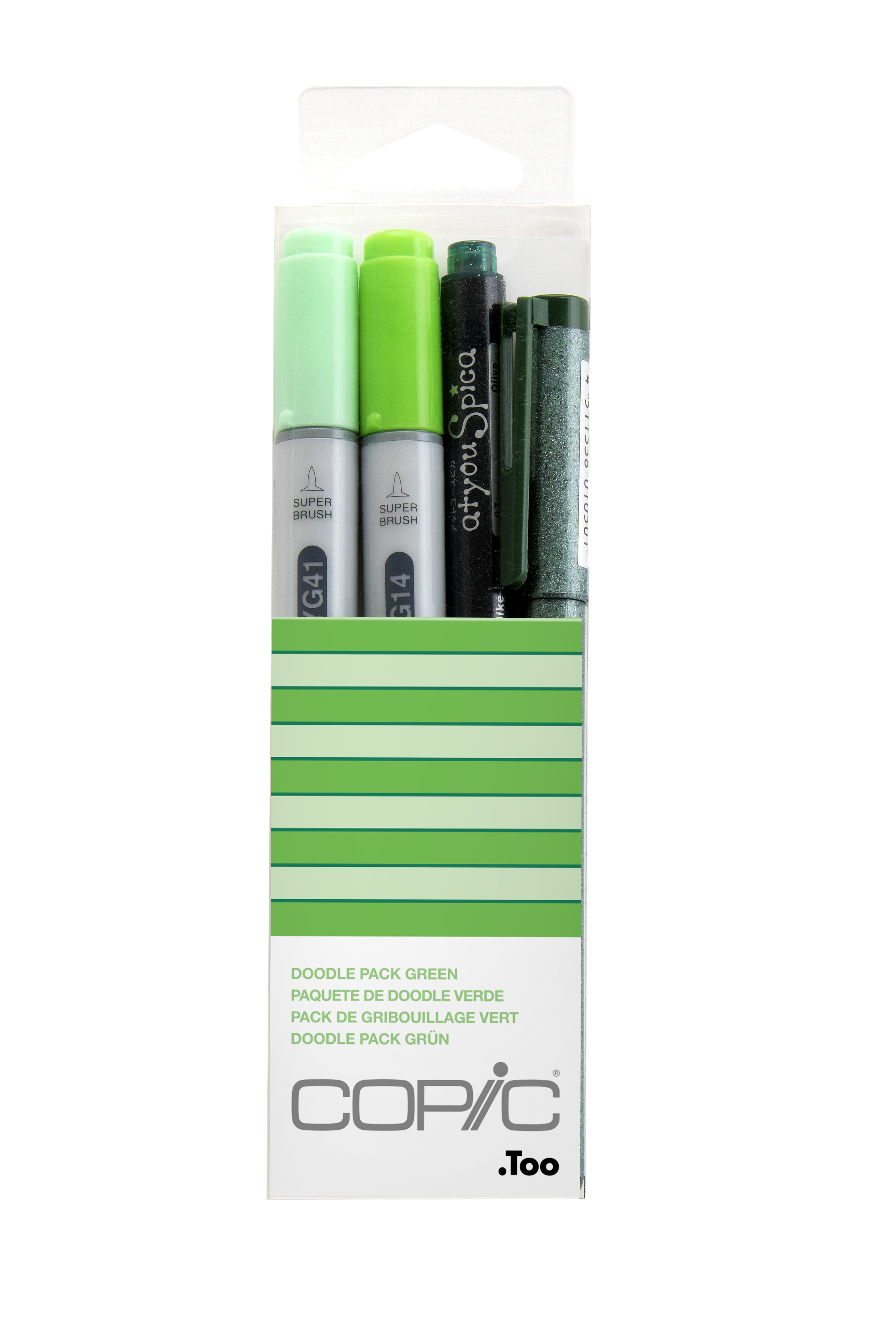 Copic Ciao Marker 4pc Doodle Kit, Green