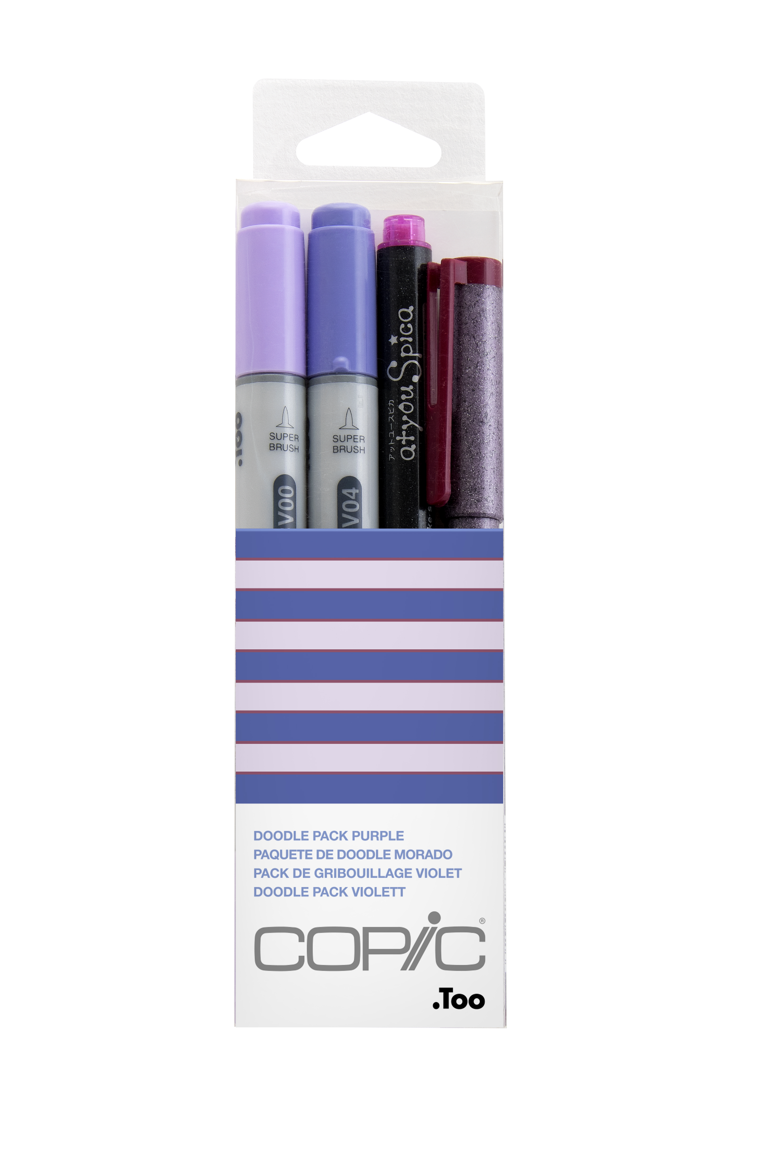 Copic Ciao Marker 4pc Doodle Kit, Purple