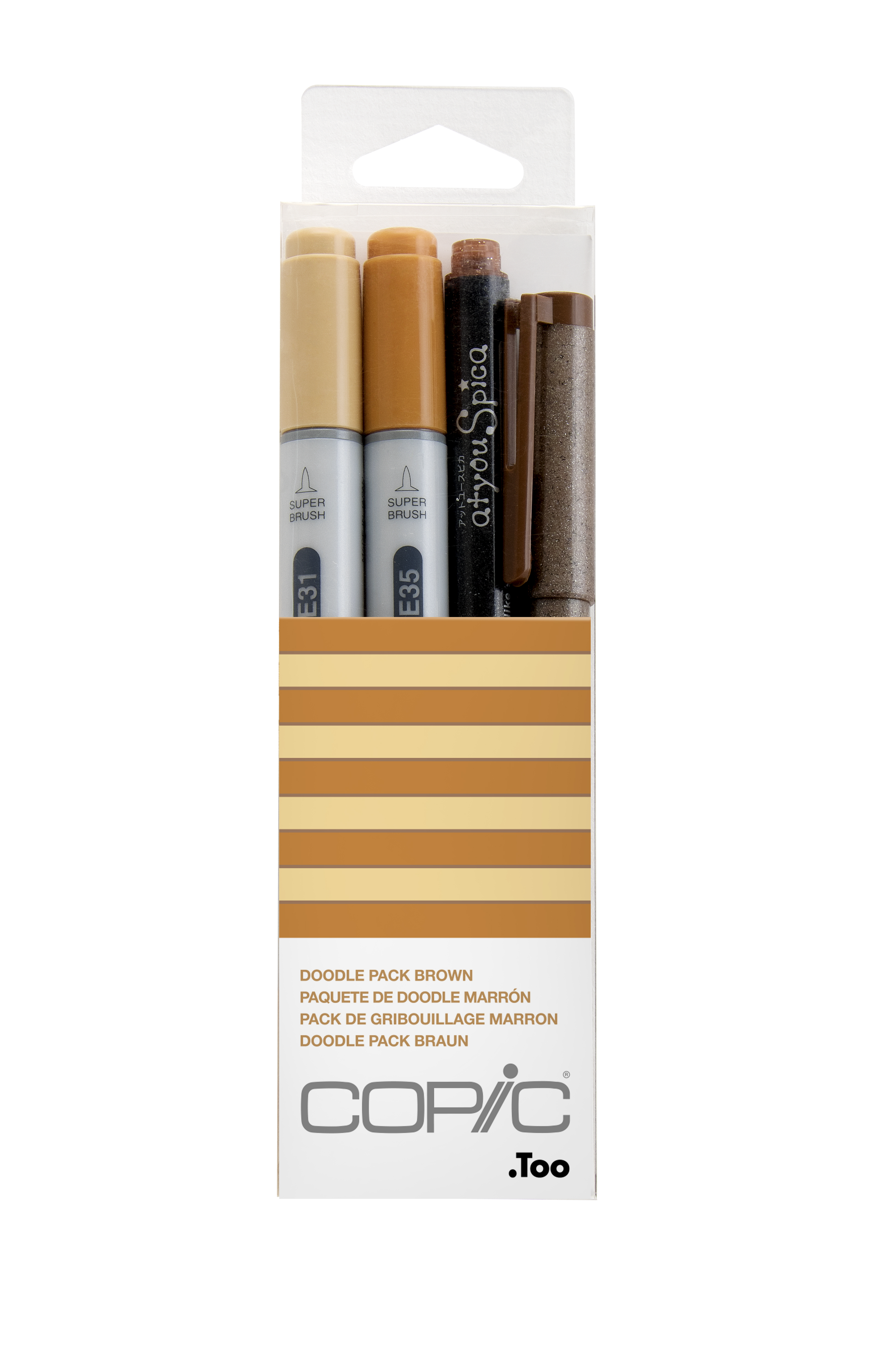 Copic Ciao Marker 4pc Doodle Kit, Brown